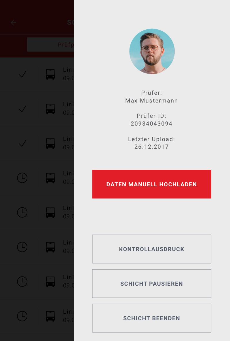 Application menu