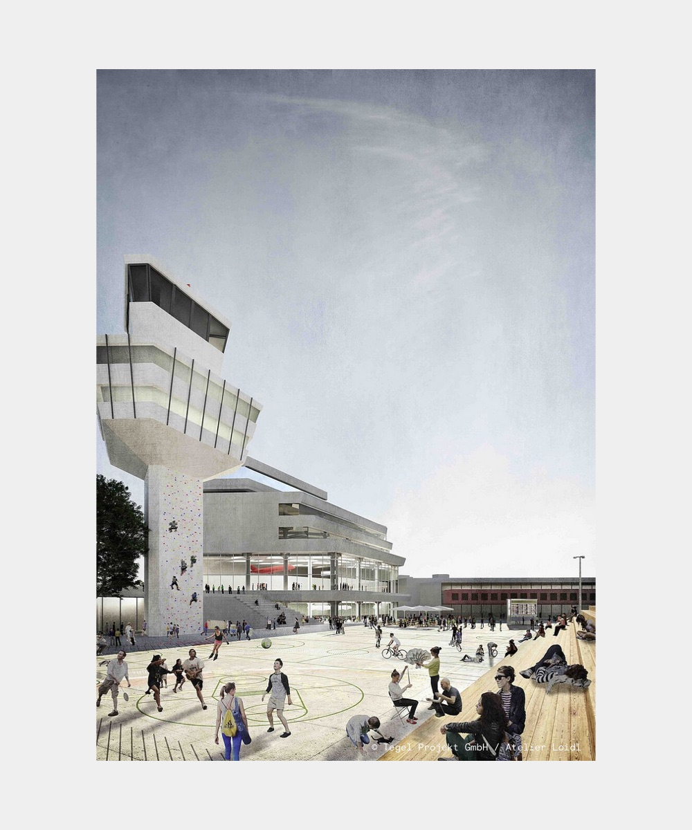 Example picture of a sports area on the future Schumacher Quartier